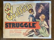 The Struggle 1931 Hal Skelly And Zita Johann 22x28 D.w. Griffithand039s Final Film