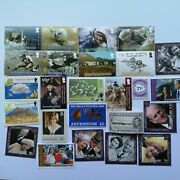 400 Different Ascension Island Stamp Collection