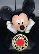 Vintage Disney Mickey Mouse Telemania Rotary / Touch Desk Phone Telephone