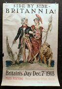 Original World War I Poster By James Montgomery Flagg Side-by-side, Britannia