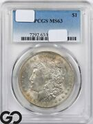 Ms63 Common Date Morgan Silver Dollar Pcgs Mint State 63 Dates Vary Some Tone