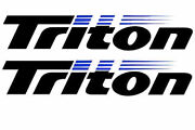 Set Of 2 Stickers Marine Vinyl Decals Fits Triton Boat Hull. Mailed W/tracking