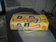 1959 Fleer The Three 3 Stooges Empty Wax Pack Display Box Tough
