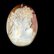 Hsn 925 Sterling Silver Amedeo 69mm X51mm Cameo Pendant