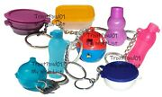 Tupperware Mixed Lot Of 8 Keychains Some Rare Fun Sized Mini Gadgets Set R New