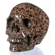 6.02natural Wavellite Carved Human Skull,collectibles 25o05