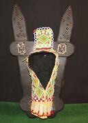 Native American Plains Indian Beaded Leather Doll Cradleboard Cradle Board