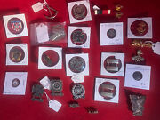 Vintage Lot Of 20+ Metals, Military Badges Navy, Insignia Ww2,pins, Sterling