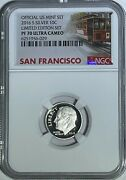 2016 S Proof Silver Roosevelt Dime Limited Edition Ngc Pf70 Ultra Cameo 10c