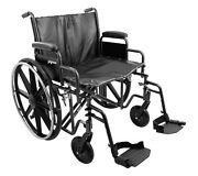 Heavy Duty Wheelchair 26 X 20 Seat Adjustable Height Desk Arms Elevating Legs