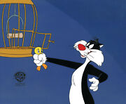 Looney Tunes Sylvester And Tweety- Original Production Cel