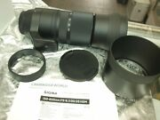 Sigma 150-1200mm F5.0 Comte Dg Os Hsm Zoom Lens F Sigma New 2x Tele Box And Case