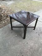 Ethan Allen Georgian Court Cherry Large Square Coffee End Table