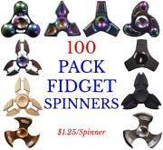 Pack Of 100 Fidget Spinner Toys Adhd Game Puzzle Hand Wholesale Bulk Lot Stress