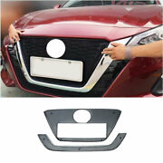 For Nissan Altima Teana 2019-2021 Black Honeycomb Center Mesh Grille Grill 2pcs