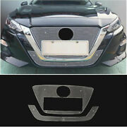 For Nissan Altima Teana 2019-2021 Silver Honeycomb Center Mesh Grille Grill 2pcs