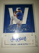 2017 National Treasures World Champions Jake Arrieta Auto 25/25 1 Of 1 Chi Cubs
