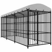 Vidaxl Outdoor Dog Kennel Cage Dog Kennel House Heavy Duty Playpen W/ Cover F
