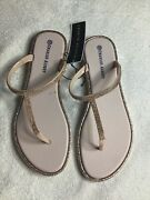 George Albert Women's Rose Gold Slippers With Glitter, Size 10, New, Rubber