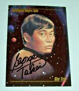 1993 Star Trek George Takei Hand Signed Autographed Card