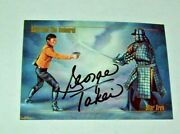 1993 Skybox Star Trek George Takei Hand Signed Autographed Card