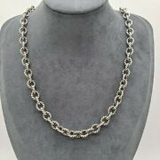 Carolyn Pollack Relios Sterling Silver Oxidized Rolo Chain 54g 20 Long