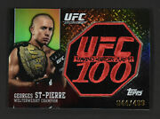 2009 Topps Ufc 100 Georges St Pierre Gsp Patch Carte 44/499