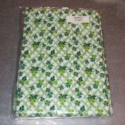 Longaberger Shamrock Fabric 5-yards Yds Lots Of Luck Made In Usa New In Bag
