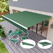 10and039andtimes8and039 Retractable Patio Awning Aluminum Door Deck Sun Shade Shelter Outdoor