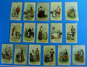 Original Early 1892 16 Singer Sewing Machine Advertising Cards Different Country