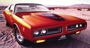 Rare New 1971 Dodge Charger Rt R/t 26 X 20 Authentic Mopar Performance Poster