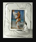 Vintage Mikasa Feelings Crystal 4x6 Picture Photo Photograph Frame New In Box