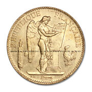 France 1886-a Gold 100 Francs Angel Au Almost Uncirculated French Coin .9334 Oz