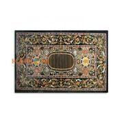 32and039and039x62and039and039 Living Home Decor Marble Black Dining Table Pietradura Inlay Top B386