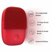 Facial Cleansing Brush Deep Cleaning Electric Sonic Face Waterproof 🔴🟣⚫🔵