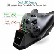Controller Charger Dock Led Dual Usb For Xbox One Charging Stand Station Cradle