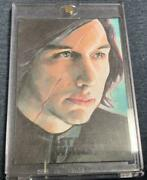 Star Wars Sketch Card Kylo Ren Topps Free Shipping With Tracking