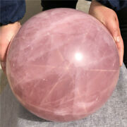 69.6lb Natural Six-pointed Star Rose Quartz Sphere Crystal Ball Healing Care