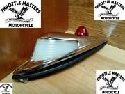 Vintage Style Fender Light For Harley Sidecar With Glass