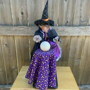 Animated 2ft Fortune Teller Witch W/ Led Eyes Large - Gemmy Halloween 1995