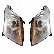 Hid Headlight Lamp Assembly Lh Rh Kit Pair Set Of 2 For Cadillac Srx Suv New