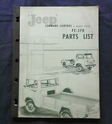 1957 1958 1959 Willys Jeep Fc-170 4x4 Forward Control Pickup Truck Parts Catalog