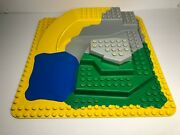 Lego Duplo 2668 Zoo Large Base Plate Raised 3d Water Land Slide 2295 24x24 Pegs
