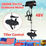48v Electric Outboard Trolling Motor Brushless Fishing Boat Engine 1800w 3000rpm