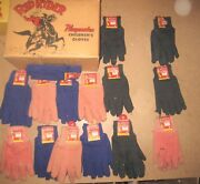 Red Ryder Gloves Full Display Box With 13 Pairs +3 Western Cowboy Playset Toy