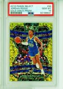2019-20 Panini Select Jordan Poole Rc Gold Disco 06/10 Psa 10