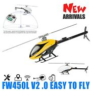 Smart Fw450 Helicopter Rtf Rc Dual Brushless Motor Helicopter 6ch Fbl 3d Gps