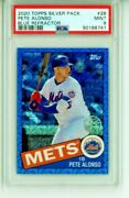 2020 Topps Silver Pack Pete Alonso Blue Refractor 027/150 Psa 9