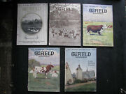 1919 Field Magazine Illustrated 5 Horse Cattle Breeding Edwin Megargee Covers