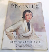 Mccalls Meet Me At The Fair June 1933 Issue Great Fashions